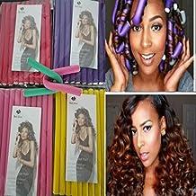 20pieces/set Hair Curling Flexi rods Hair Roller Curler Random Color Soft Foam Bendy DIY Styling Hair Sticks Tool Twist-flex Rods