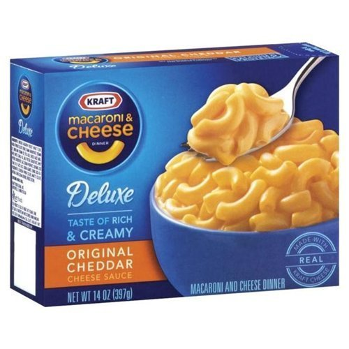 Kraft Deluxe Macaroni & Cheese Original Cheddar 14 oz (Pack of 24) by Kraft