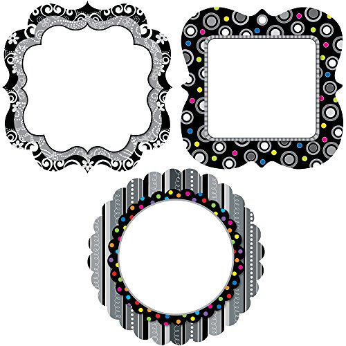 Creative Teaching Press BW Collection Chart Cards 10-Inch Jumbo Designer Cut-Outs (0957)
