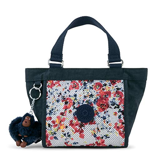 Kipling Shopper Printed Minibag, Busy Blossoms Blue Combo by Kipling