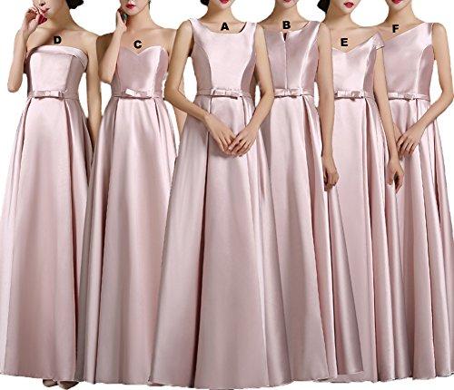 Color Square Dress Neckline Luxury dresses Bridesmaid Stain Prom Dresses Blush e Long wrx7wtR