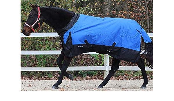 Tough 1 1200D Horse Blanket Miniature Turnout Snuggit Black Blue//Royal U-NS-4