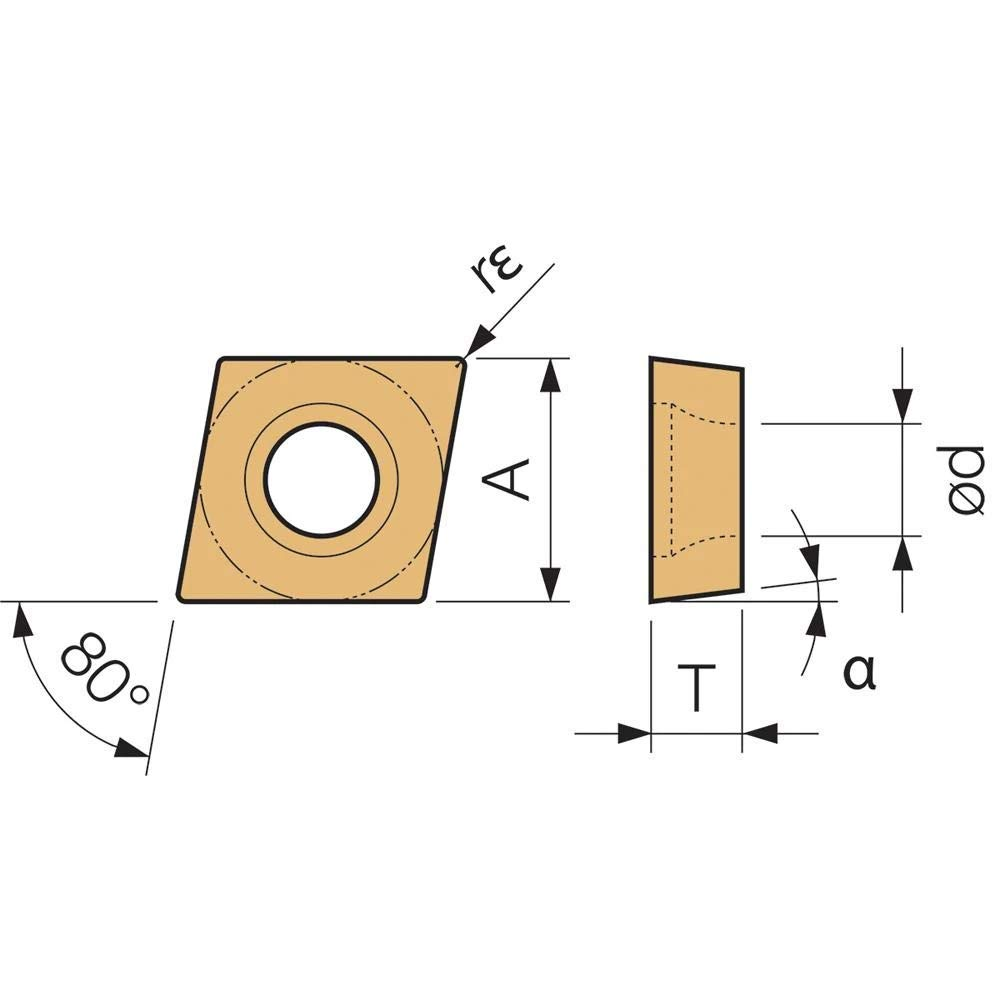 Kyocera CPGT 3252 PV90 Grade PVD Cermet Indexable Turning Insert 10 Pieces