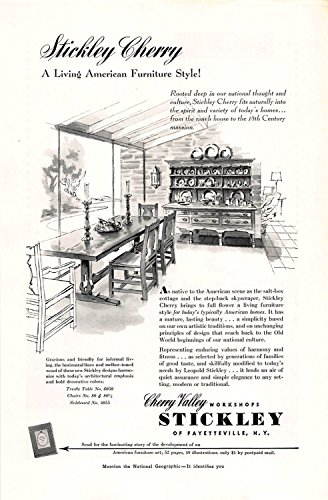 (Print Ad 1953 Stickley Cherry A Living American Furniture Style)
