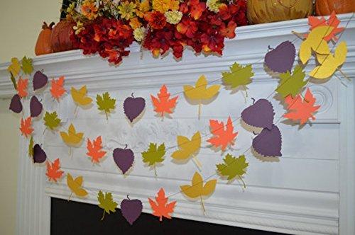 (Leaf Garland, Leaf Banner, Fall leaves decoration, fall in love decor, fall wedding, rustic wedding garland wedding decorations, autumn)