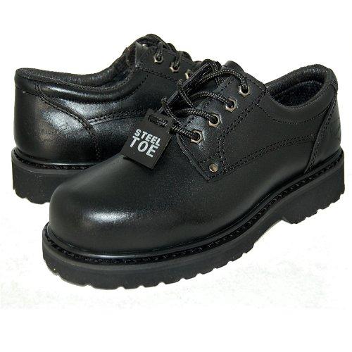 Work 13D Oxfords Toe BLACK MEN Steel Welt Goodyear Leather US ISpRq