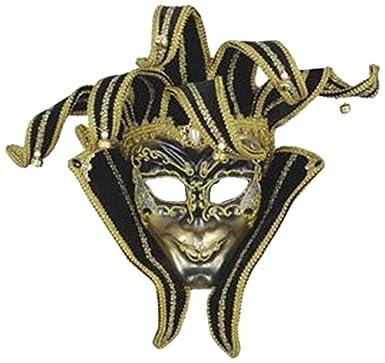 Forum Novelties Men's Venetian Style Jester Mask Gold/Black One Size Forum Novelties Costumes 61016