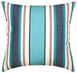 Sunbrella Token Surfside Indoor/Outdoor Striped Patio Pillow 18x18