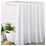 Black White Shower Curtain Aimjerry Black and White Fabric Shower Curtain for Bathroom,Washable STALL Size 72 X 72 Inch