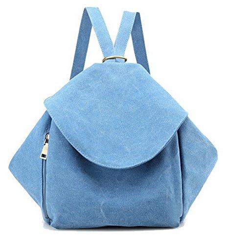 Mode Toile AgooLar dos GMBBA181511 bandoulière Lac Femme Sacs de École à Daypack à Sacs Blanc Bleu fX5wq5aB