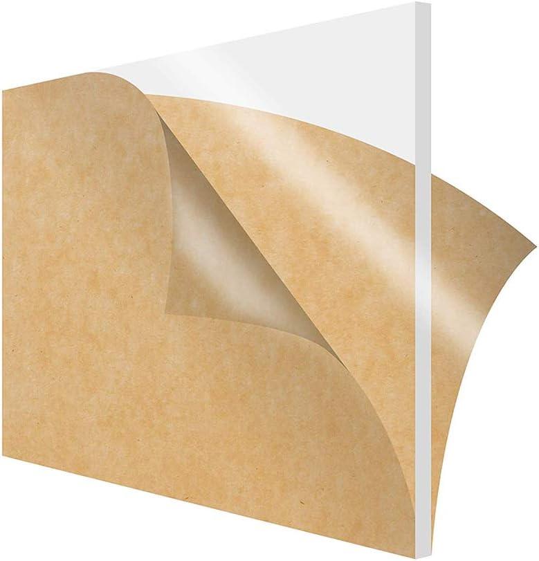 Dumadf Hoja Acrílico, Hojas de plexiglás, con un Papel Protector, para proyectos de visualización de Bricolaje, artesanía, Panel de plástico Ligero,Thickness 6mm,100x300mm
