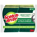 Scotch-Brite Heavy Duty Scrub Sponges, Powerful Scrubbing for Stuck-on Messes, Tougher than Your Worst Messes, Stands Up to Stuck-on Grime, 6 Scrub Sponges