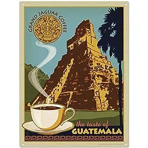Grand Jaguar Coffee Guatemala Kitchen Metal Sign by Retro Planet