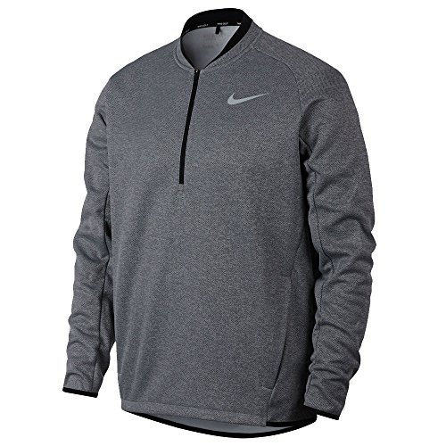 (Nike Men's Therma Half-Zip Golf Top (Anthracite, Large))