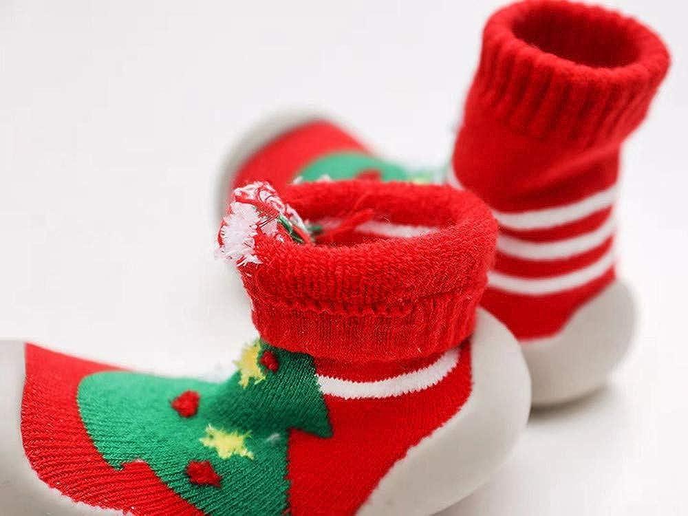 SUMTTER Calzini Antiscivolo Bambino Natale Caldo Cotone Invernali Scarpine Primi Passi per Neonata//Bambini Unisex 0-3 Anni