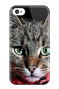 2015 MW53X5AOZN3YAG5P Durable Case For The Iphone 4/4s- Eco-friendly Retail Packaging(grey Cat)