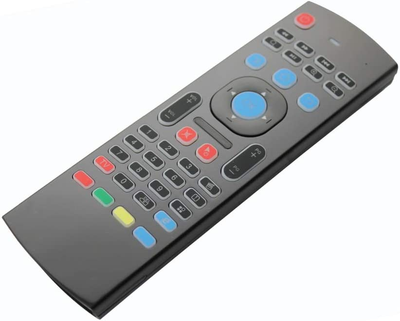 Calvas oFourSmart MX3 Air Mouse For tx3 mini KM8P X96 Mini H96 pro android tv box mini pc Laptop Smart TV 2.4Ghz Mini Wireless Keyboard Color: MX3 RU Version