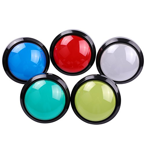 - Easyget 5 Pcs Arcade Push Button 100mm Dome Shaped Jumbo LED Illuminated Self-resetting Button with Switch for Arcade Game Projects,Pop'n Music DIY Projects 5 Colors Available