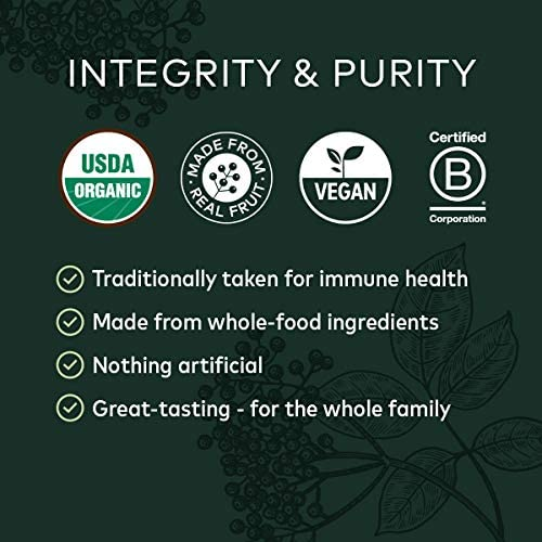 Gaia Herbs Black Elderberry Syrup - Daily Immune Support with Antioxidants, Organic Sambucus Elderberry Supplement, 5.4 Fl Oz (Pack of 1) 3
