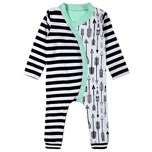 [MIOIM Infant Baby Girls Boys Long Sleeve Stripes Romper Bodysuit Jumpsuit Outfits Onesies] (Baby Designer Clothes)