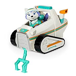 Paw Patrol Everest's Rescue Snowmobile, Vehicle and Figure by Spin Master