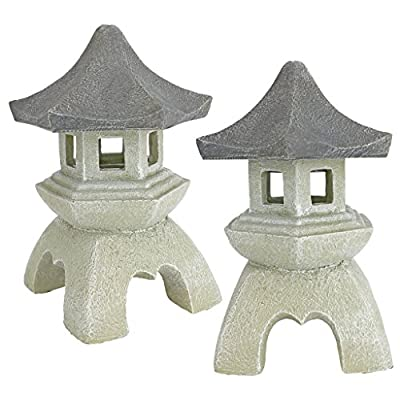 Design Toscano Asian Pagoda Statues Medium - Set of Two