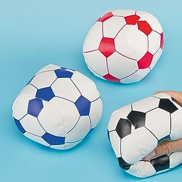 Balones de fútbol Blandos en Miniatura - Pack de 3: Amazon.es: Juguetes y juegos