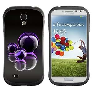 "Hypernova Slim Fit Dual Barniz Protector Caso Case Funda Para SAMSUNG Galaxy S4 IV / i9500 / i9515 / i9505G / SGH-i337 [Burbujas púrpuras""]"