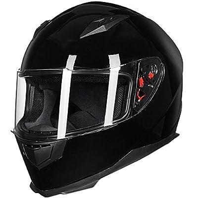 ILM Full Face Motorcycle Street Bike Helmet with Removable Winter Neck Scarf + 2 Visors DOT from ILM