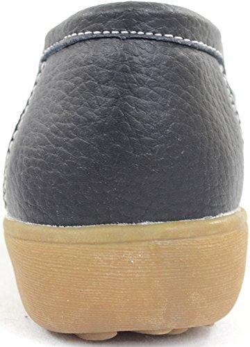 Snugrugs Dames / Femmes En Cuir Smart / Casual / Chaussures Dété Slip-on Noir