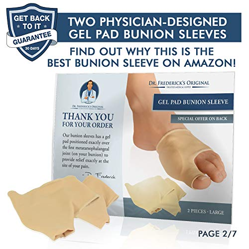 Dr. Frederick's Original Bunion Sleeves - 2 Pieces - Bootie Bunion Cushions - Gel Pad Bunion Relief  - http://coolthings.us
