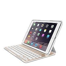 Belkin QODE Ultimate Pro Keyboard Case for iPad Air 2 (Gold/White)(F5L176TTWGW)