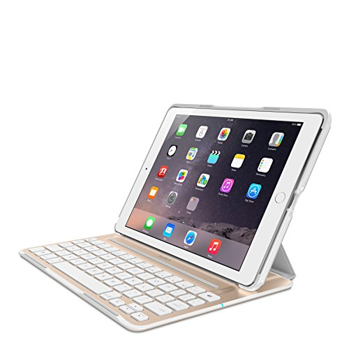 Belkin QODE Ultimate Pro Keyboard Case for iPad Air 2 (White & Gold) ()