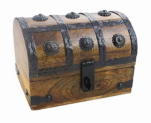 - Well Pack Box Wooden Pirate Treasure Chest Keepsake Box Jewelry Medium (6.5x4.5x5)