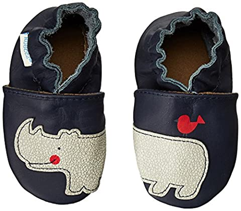Robeez Friends Wrap Around Crib Shoe (Infant/Toddler),Navy,6-12 Months M US