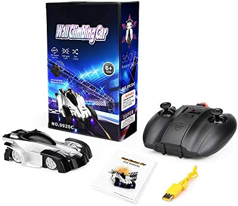 Remote Control Car Toys for Kids, Wall Climbing Rc Cars with Dual Mode 360°Rotating Stunt Rechargeable High Speed Vehicle with Led Light for Boys Girls