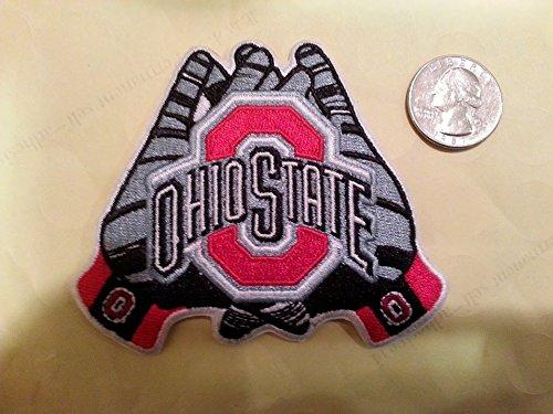 Embroidery Patch OSU Ohio State Buckeyes Nice Gloves Shape 3 1/2 X 3