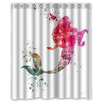 Curtains Ideas ariel shower curtain : Amazon.com: Ariel The Little Mermaid SKCASE Custom shower curtain ...