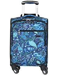 Ricardo Beverly Hills Luggage Sausalito Superlight 2.0 17-Inch 4W Universal Carry-On, Rhythm/Blue Paisley, Small