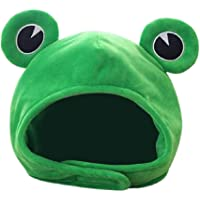 Soft Plush Frog Hat Plush Frog Hat Cap Frog Ears Costume Fuzzy Furry Animal Hats Hat Cosplay Party Photo Booth Props for…
