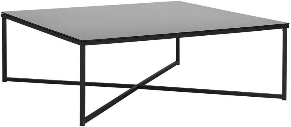 Home Low Level Chrome Coffee Table Black Amazon Co Uk Kitchen