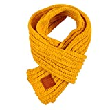 Kids Winter Warm Knit Scarves Fashion Solid Color Cable Scarf Boys Girls