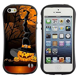 LASTONE PHONE CASE / Suave Silicona Caso Carcasa de Caucho Funda para Apple Iphone 5 / 5S / Pumpkin Cartoon Orange