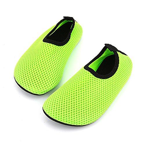 Ecseo Unisex Genitore-bambino Scarpe Da Ginnastica Aqua Calzini Per La Spiaggia Nuoto Yoga Sport-fitness Appartamenti Traspiranti Bambino-verde