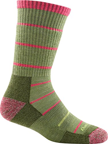 Darn Tough Summit Stripe Cushion Boot Sock - Women's Willow Medium (Willow Stripe)