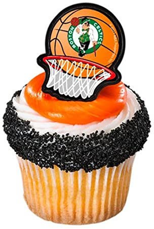 Boston Celtics NBA 7 Inch Edible Image Cake /& Cupcake Toppers// Party Birthday
