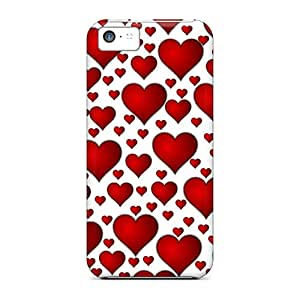 Pretty BcXQrjWW1851 Iphone 5c Case Cover/ Hearts Of Love Series High Quality Case