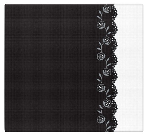 (MBI 12x12 Inch Black and White Postbound Album, Deco (872509) )