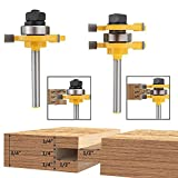 Bestgle 1/4-Inch Shank Tongue Groove Router Bit