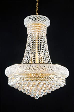 Swarovski Crystal Trimmed French Empire Crystal Chandeliers Lighting    Great For The Dining Room, Foyer